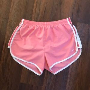Baby pink running shorts